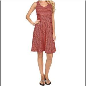 PrAna Amelie Coral Orange Dress